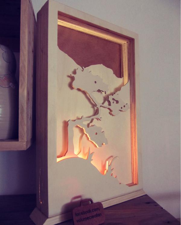 3quart produit déco lampe bois volume création radyoga